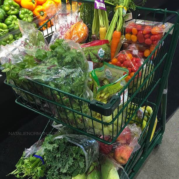 Plant-Filled Grocery Cart by Natalie Norman Raw Food Expert