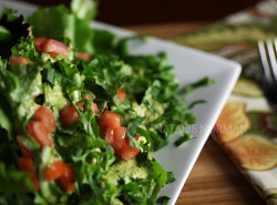 Baby Greens with Creamy Cilantro Dressing