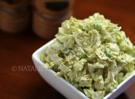 Napa Cabbage Salad with Creamy Jalapeno Dressing