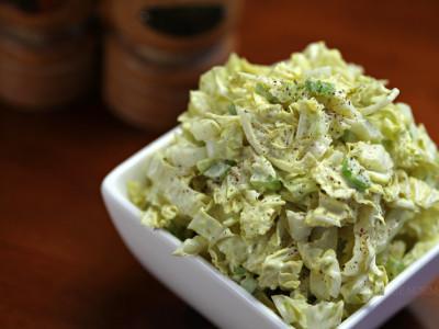 Napa Cabbage Salad with Creamy Vegan Jalapeno Dressing