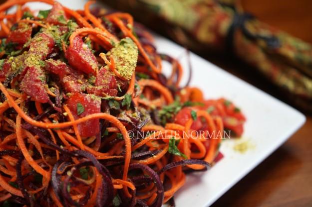 Tomato basil carrot pasta