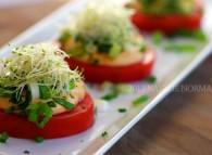 nacho cheese tomato slider