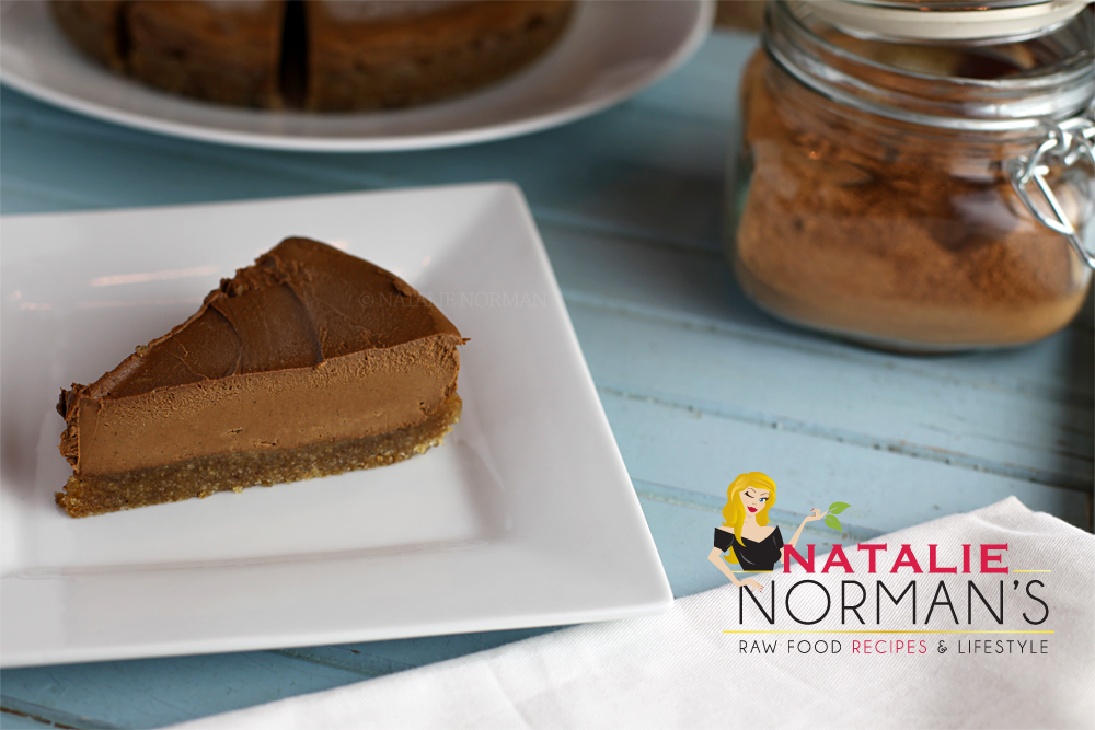Chocolate Pie with Macadamia Nut Cookie Crust - Natalie Norman
