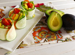 Raw Vegan Fast Food Zucchini Wraps
