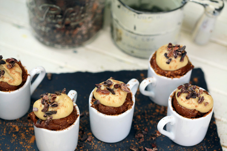 Raw Vegan Dessert Chocolate Mousse Cups by Raw Food Expert Natalie Norman