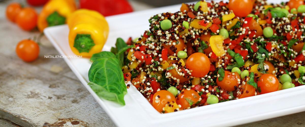 Raw Vegan Food Mediterranean Quinoa