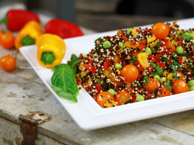 Raw Vegan Food Mediterranean Quinoa