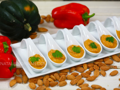 Creamy Acorn Squash and Red Pepper Soup