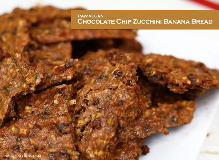 Raw Vegan Chocolate Chip Zucchini Banana Bread