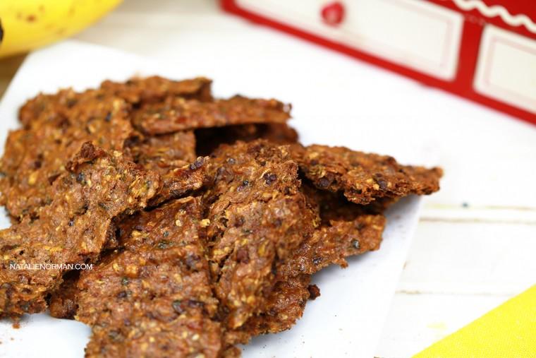 Raw Vegan Chocolate Chip Zucchini Banana Bread by Natalie Norman