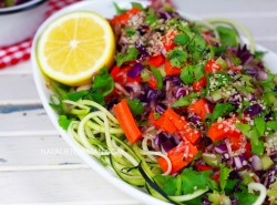 Colorful Zucchini Pasta! Raw Foods on a Budget