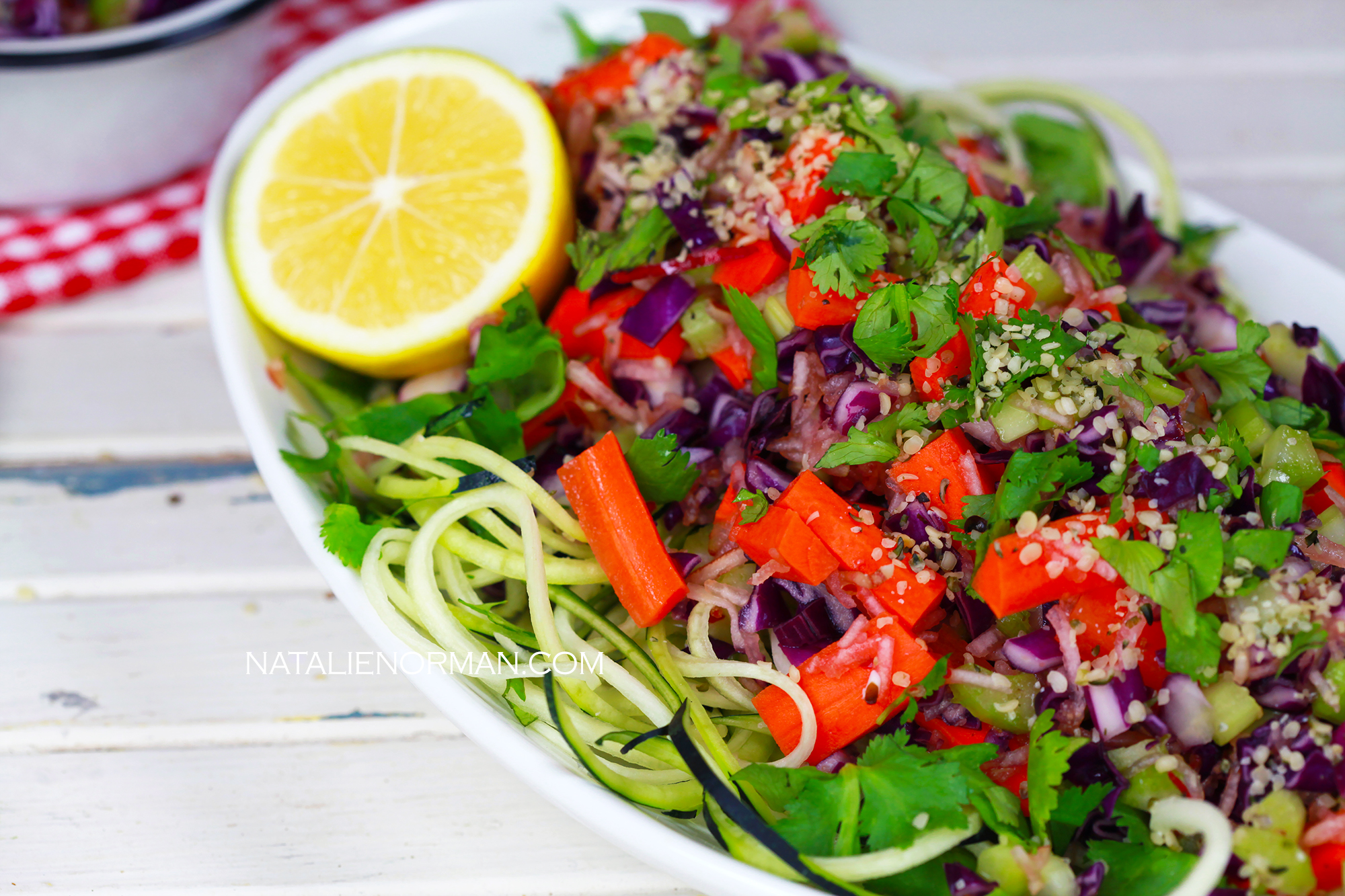 Colorful zucchini pasta raw foods on a budget natalie norman forumfinder Image collections