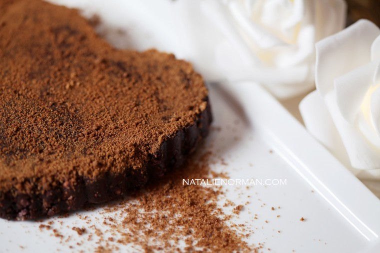 Raw Vegan Sugar-Crusted Chocolate Tart