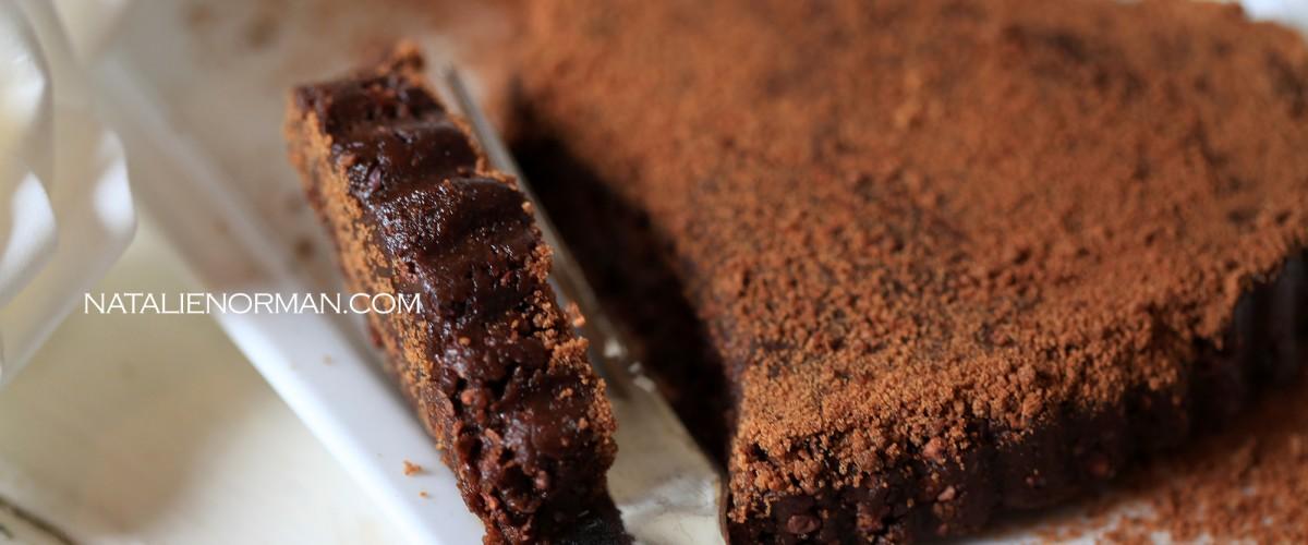 Raw Vegan Sugar-Crusted Chocolate Tart