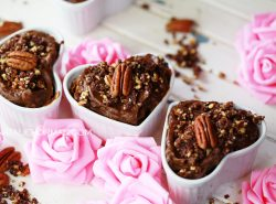 Thick & Creamy Chocolate Mousse with Chocolate Pecan Crumble