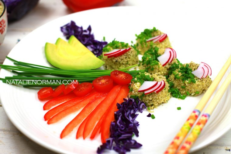 How You Can Love Eating Raw Cauliflower: Raw Vegan Sushi Donuts