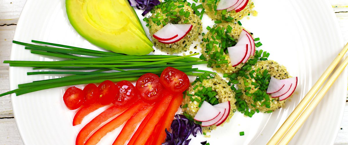 Raw Vegan Mini Sushi Donuts